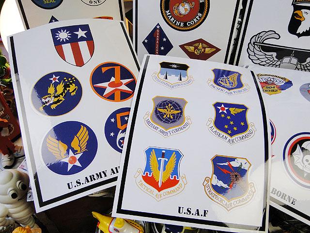 U.S.ミリタリーエンブレムステッカー(6種オールセット)