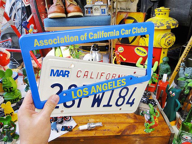 カリフォルニア州のUSEDナンバープレート(フレーム付き/ブルー)