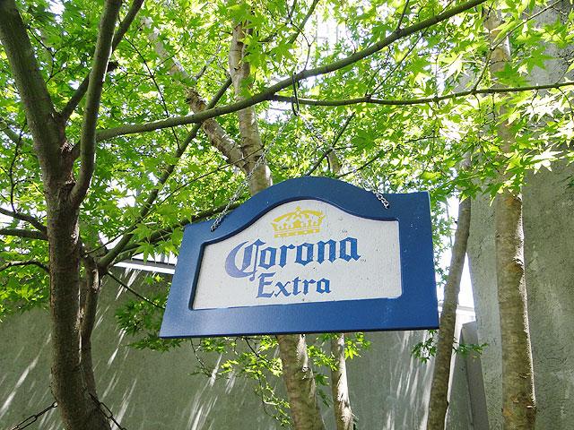 コロナのハンギングサイン