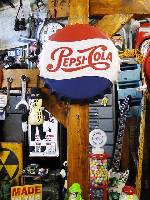 ペプシコーラのボトルキャップサイン