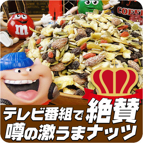 所さんが「これが今のところ一位」と絶賛したあのナッツ&フルーツ乾き物 1kg ホンマでっかTVで紹介されたミックスナッツ スイカの種