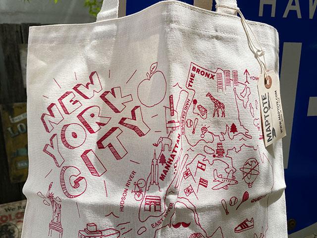 NYブルックリンのスタジオが手がけたマップトート MADE IN U.S.A.(ニューヨーク)
