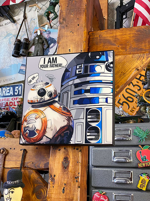 映画「スターウォーズ」のポップアートフレーム(BB-8&R2-D2)