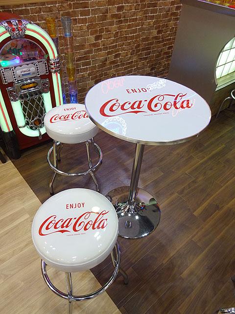コカ・コーラ スツールチェアー(ホワイト)