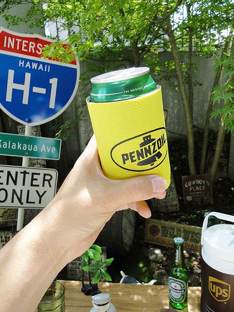 ペンズオイルの缶クーラー