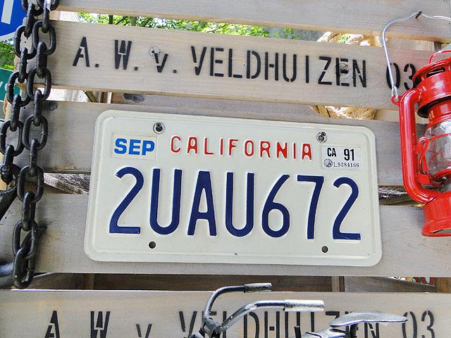 カリフォルニア州のUSEDナンバープレート(1987〜1992年デザイン)
