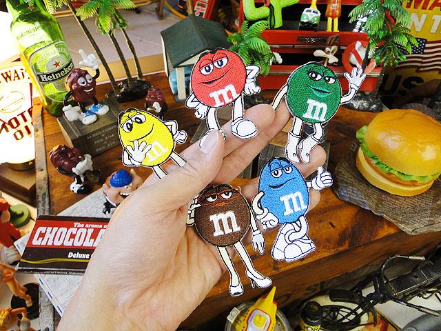 m&m'sのキャラクターワッペン Mサイズ(全種5体セット)