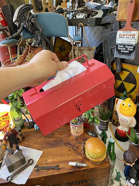 ツールボックス型ティッシュケース
