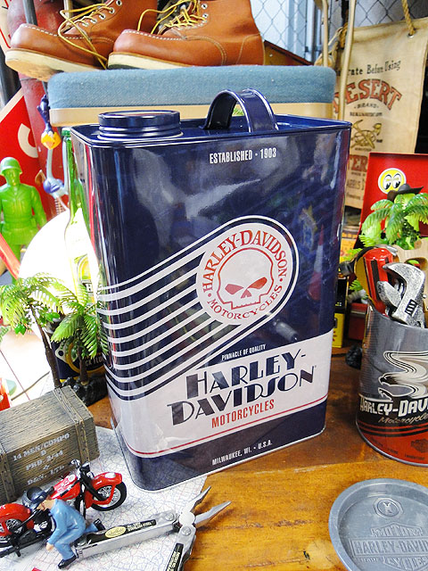ハーレーダビッドソンのガス缶&オイルドラム缶3個セット