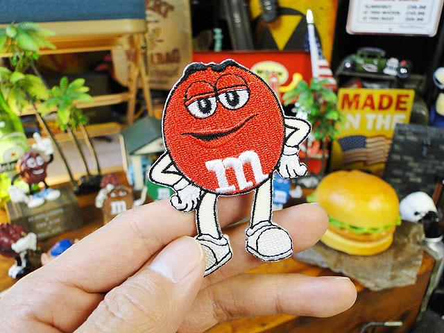 m&m'sのキャラクターワッペン Mサイズ(レッド)