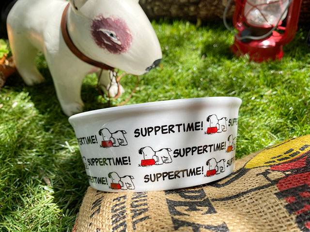 スヌーピーのドッグディッシュ(Snoopy Suppertime)ペットボウル 犬用食器 猫 フードボウル エサ皿