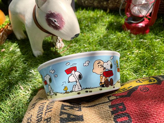 スヌーピーのドッグディッシュ(Snoopy Blue Sky with Charlie Brown)ペットボウル 犬用食器 猫 フードボウル エサ皿