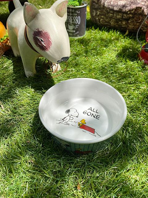 スヌーピーのドッグディッシュ(Snoopy All Gone)ペットボウル 犬用食器 猫 フードボウル エサ皿