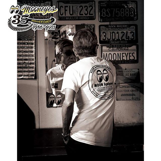ムーンアイズ35周年アニバーサリー ラウンドロゴTシャツ(Mサイズ)