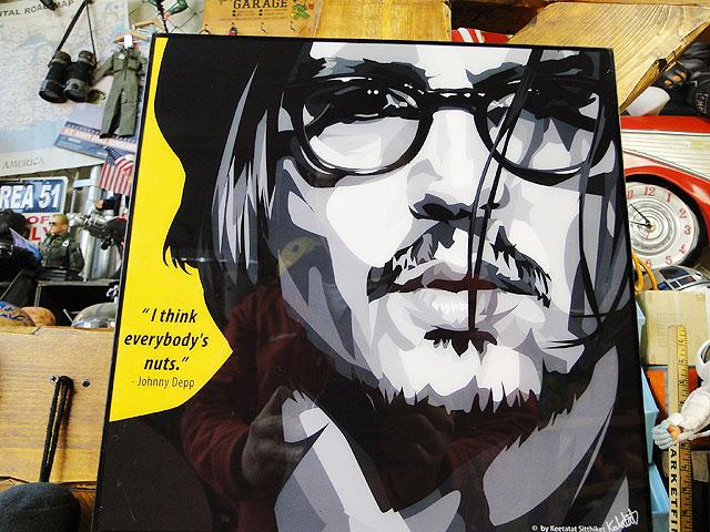 ジョニー・デップのポップアートフレーム