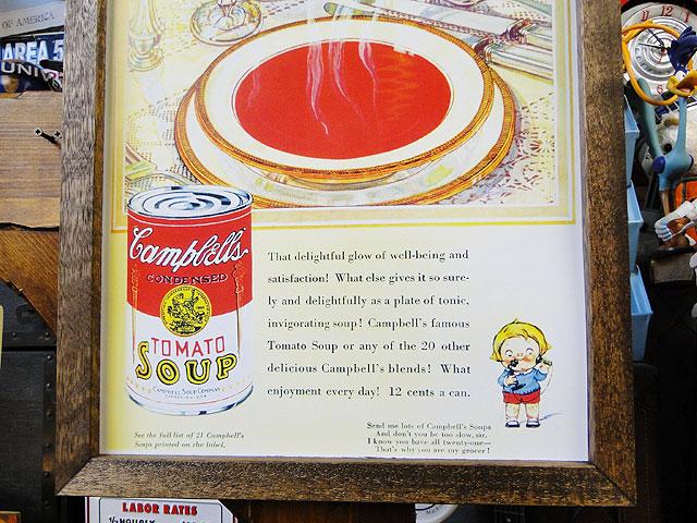 ポスターフレーム(キャンベル/トマトスープ)