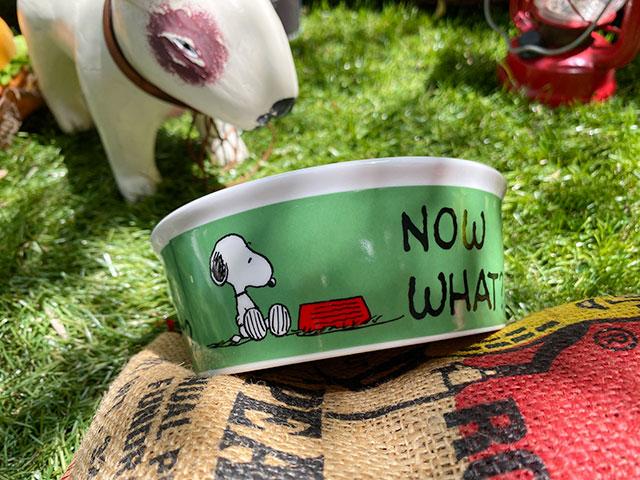 スヌーピーのドッグディッシュ(Snoopy Now What)ペットボウル 犬用食器 猫 フードボウル エサ皿