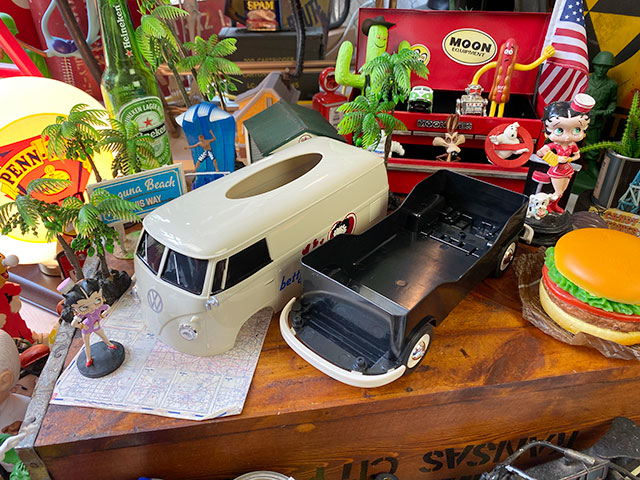 「ベティ・ブープ」コラボモデル ワーゲンバスのティッシュボックス(アイボリー)