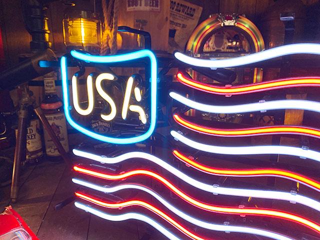 星条旗のネオン管 USAフラッグ