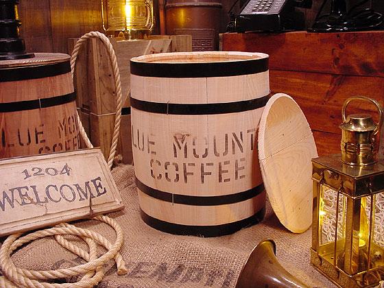 コーヒー木樽(豆だる)無色