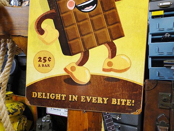 ファーストフードブラザーズのU.S.ヘヴィースチールサイン(チョコレート/レクタングル)