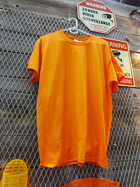 アメリカの刑務所で囚人たちが着るTシャツ 本物ジェイルシャツ(メンズLサイズ)