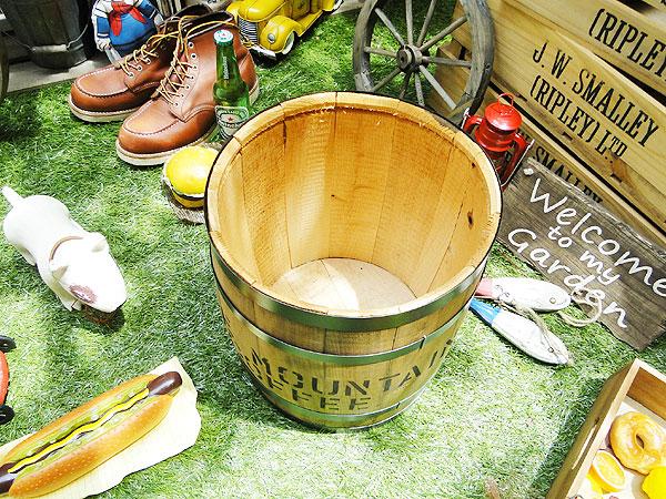 コーヒー木樽(豆だる)うす茶