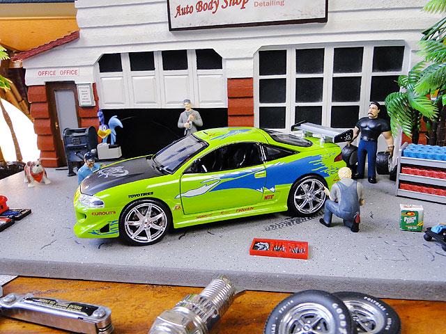 Jada 映画「ワイルドスピード」のダイキャストモデルカー 1/24スケール(ブライアン/三菱・エクリプス)