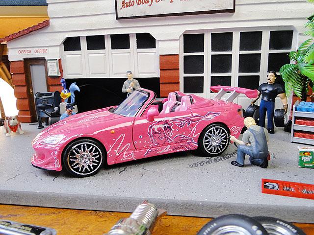 Jada 映画「ワイルドスピード」のダイキャストモデルカー 1/24スケール(スーキー/ホンダS2000)