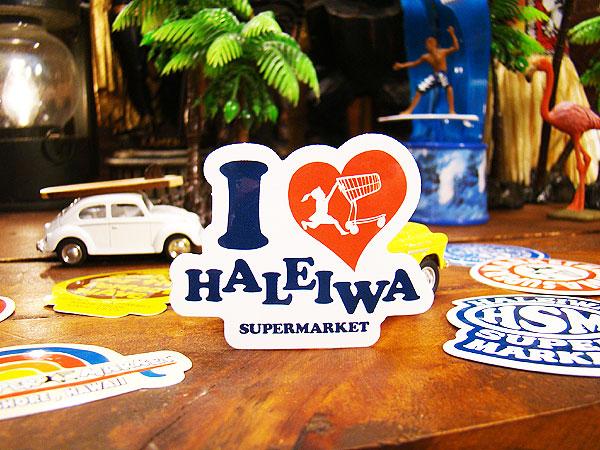 ハレイワスーパーマーケットのステッカー(アイ・ラブ・ハレイワ)