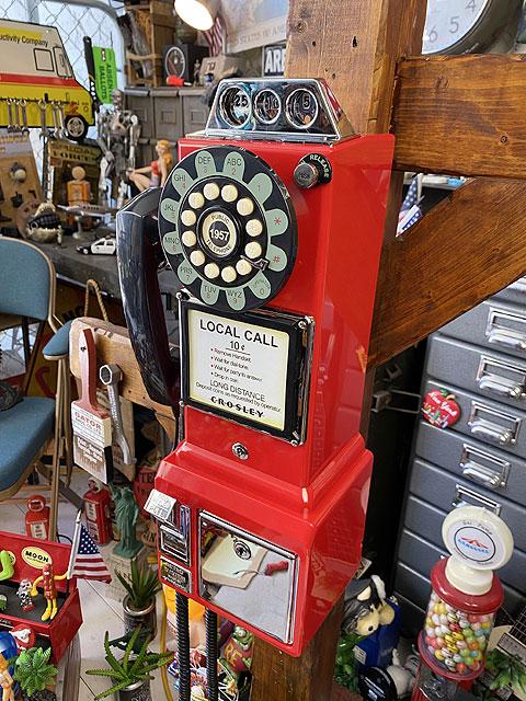 アメリカの公衆電話機型テレフォン 1957年モデル(レッド)