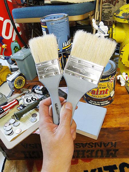 ミリタリーペイント オリジナル刷毛(3インチサイズ/戦艦ブルー)