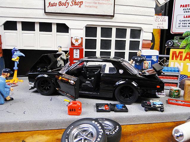 Jada 映画「ワイルドスピード」のダイキャストモデルカー 1/24スケール(ブライアン/ニッサン・スカイライン2000GT-Rハコスカ)