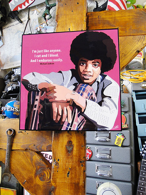 ジャクソン5 ヤング・マイケル・ジャクソンのポップアートフレーム