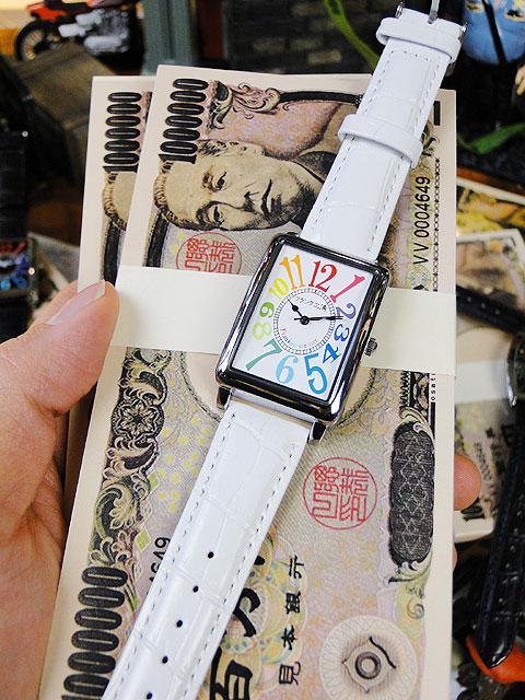 天才時計師フランク三浦の腕時計初号機(改)通常サイズ(レインボーホワイト)