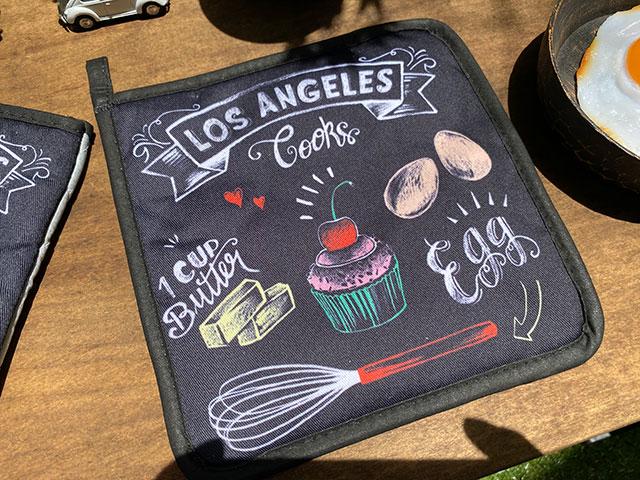 L.A.ベーカリーのミトン&鍋敷きセット