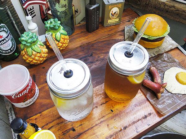 レッドネックシッパーメイソンジャーのドリンクボトル2本セット(クリアー)