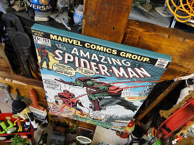 マーベルコミック アメイジング・スパイダーマンのキャンバスアート(グリーンゴブリン)