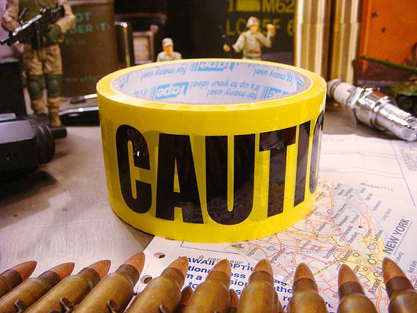 コーションのパッキングテープおもしろ雑貨ハロウィン店舗装飾パーティーグッズインテリア