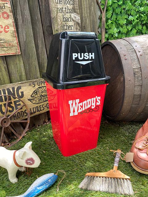 ウェンディーズのダストビン 20Lサイズ ゴミ箱(オールドロゴ/レッド)