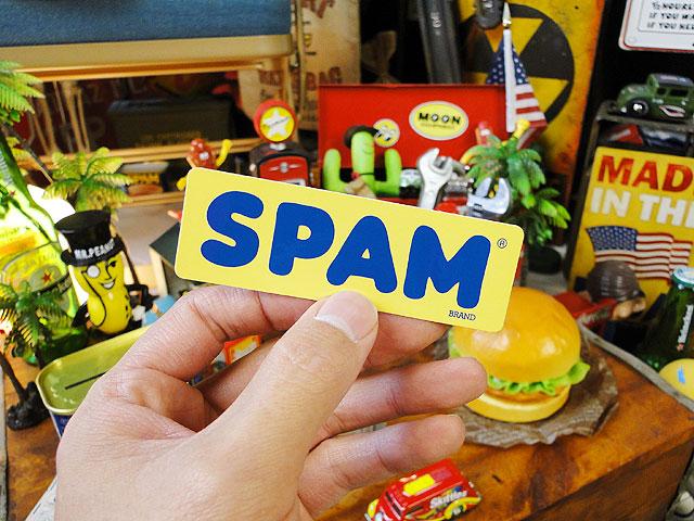 スパムのオフィシャルステッカー(スパムロゴ/イエロー)