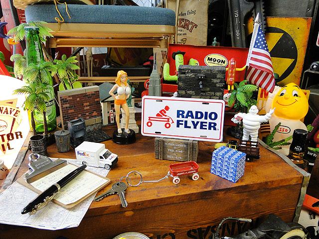 ラジオフライヤーのミニライセンスプレート