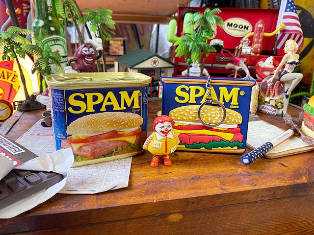 スパム缶リアルサイズのラバーキーリング