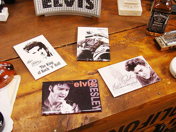 エルヴィス・プレスリーのマグネットシート4枚セット