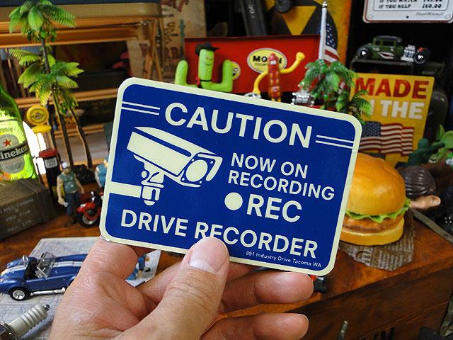ドライブレコーダー録画中のセキュリティサイン(裏面シール付き)
