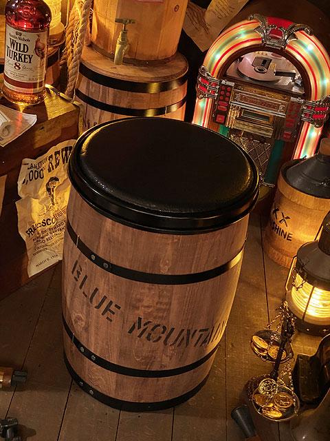 コーヒー木樽チェアー(ブラウン)