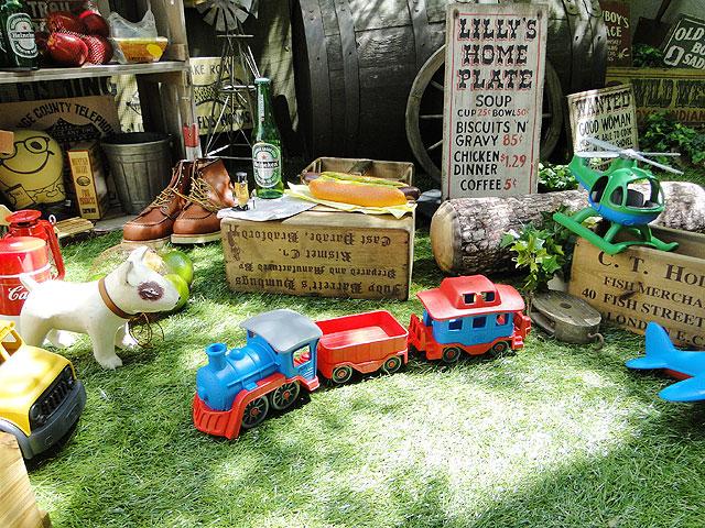 グリーントイズ アメリカの子供のオモチャ働く乗り物(機関車)