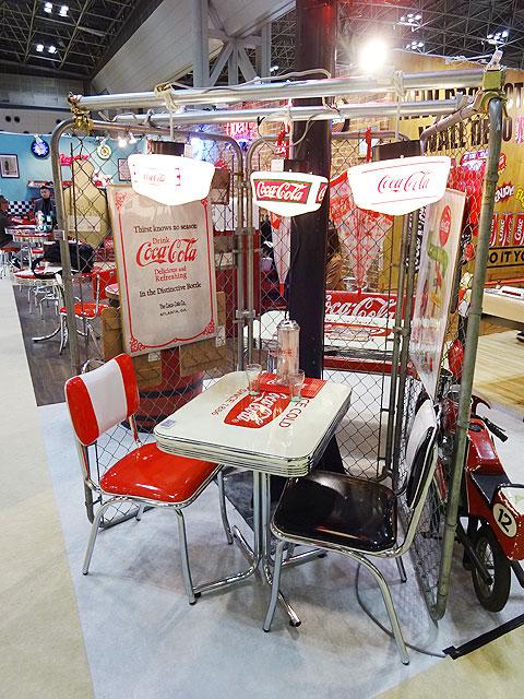 コカ・コーラブランド ダイナーSテーブル(グラストップ付き)