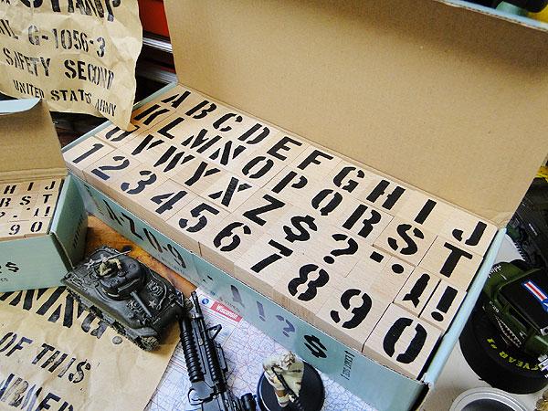 U.S.ミリタリーステンシルスタンプ3サイズオールセット※インク別売 世田谷ベース
