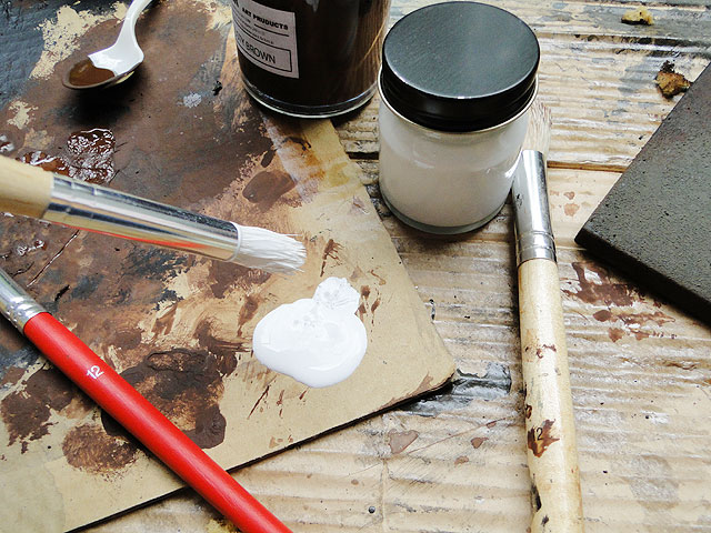 サビサビ塗装用のオリジナル塗料単色(ホワイト)100mlサイズ